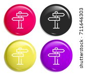 panel multi color glossy badge...