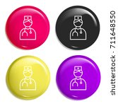 doctor multi color glossy badge ...