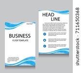 vector brochure flyer design... | Shutterstock .eps vector #711650368