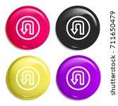 turn multi color glossy badge...