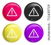 warning multi color glossy...