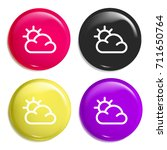 sun multi color glossy badge...