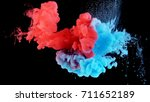 real shot color paint drops in... | Shutterstock . vector #711652189
