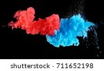 real shot color paint drops in... | Shutterstock . vector #711652198