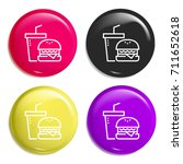 fast food multi color glossy...