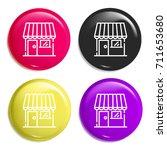 store multi color glossy badge...