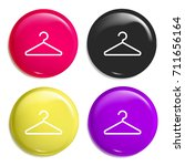 hanger multi color glossy badge ...