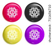 chip multi color glossy badge...
