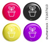 leaf multi color glossy badge...