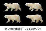 polar bear walking on black... | Shutterstock . vector #711659704
