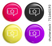 chat multi color glossy badge... | Shutterstock .eps vector #711660193