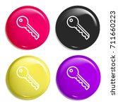 key multi color glossy badge...
