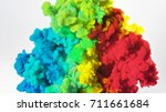 colorful rainbow paint drops... | Shutterstock . vector #711661684