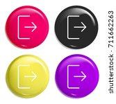 logout multi color glossy badge ...
