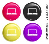 laptop multi color glossy badge ...