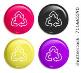 recycle multi color glossy... | Shutterstock .eps vector #711665290