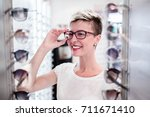 beautiful middle age woman... | Shutterstock . vector #711671410