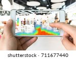 heatmap analytic in smart... | Shutterstock . vector #711677440