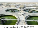 sewage treatment plant... | Shutterstock . vector #711679378