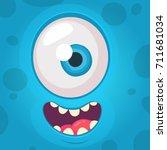 Funny Monster One Eye Face....