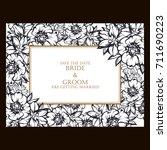 vintage delicate invitation... | Shutterstock . vector #711690223
