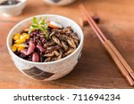 insect and rice berry   cricket ... | Shutterstock . vector #711694234