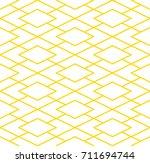 editable seamless golden...   Shutterstock .eps vector #711694744