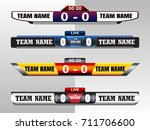 scoreboard digital screeen...   Shutterstock .eps vector #711706600