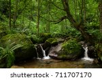Small Cascades Of Water With...