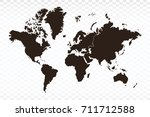 map continents map. each city... | Shutterstock .eps vector #711712588