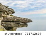floating rock ledge background... | Shutterstock . vector #711712639