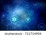 2d illustration medicine... | Shutterstock . vector #711714904