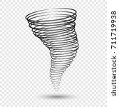 tornado vector illustrations.... | Shutterstock .eps vector #711719938