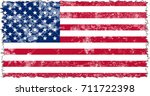 united states of america flag... | Shutterstock . vector #711722398