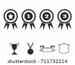 rosette icons. vector... | Shutterstock .eps vector #711732214