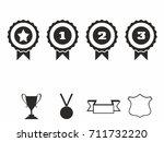 rosette icons. vector... | Shutterstock .eps vector #711732220