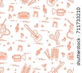 vector pattern of sheet music...   Shutterstock .eps vector #711733210