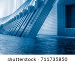 empty cobblestone passage...   Shutterstock . vector #711735850