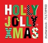 jolly christmas | Shutterstock .eps vector #711739900