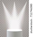 empty vector white pedestal on...   Shutterstock .eps vector #711746380