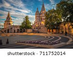 budapest  hungary   morning... | Shutterstock . vector #711752014