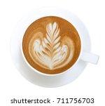 top view of hot coffee... | Shutterstock . vector #711756703