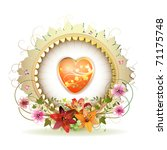 Circular Floral Frame With...