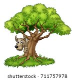 a cartoon fairytale big bad... | Shutterstock .eps vector #711757978