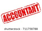accountant red stamp text on... | Shutterstock .eps vector #711758788