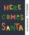vector template of christmas... | Shutterstock .eps vector #711760069