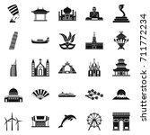 world religion icons set.... | Shutterstock . vector #711772234