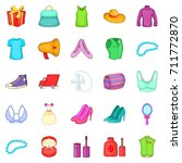 clothing icons set. cartoon set ... | Shutterstock . vector #711772870