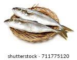 mackerel on white background | Shutterstock . vector #711775120