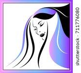 branding for salon  barbershop  ... | Shutterstock . vector #711776080